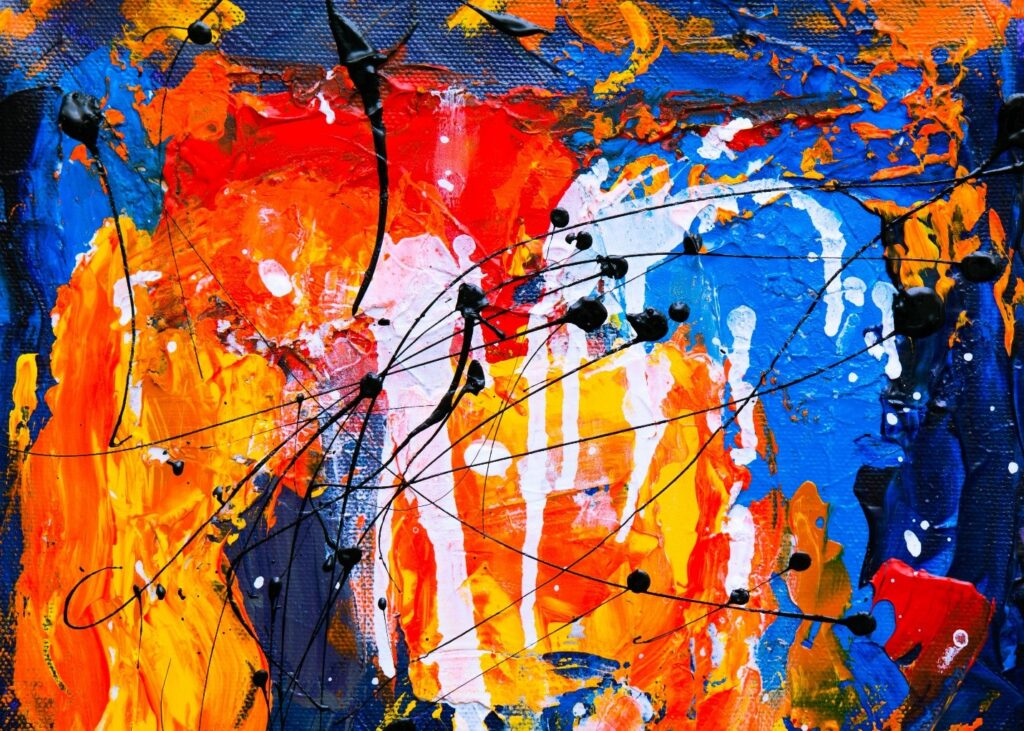 an affordable abstract painting